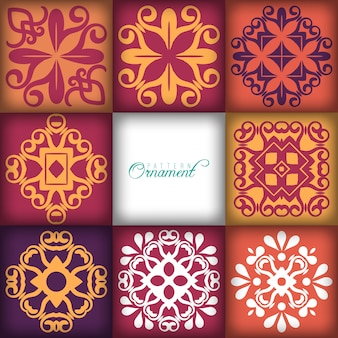 8 different vector seamless patterns