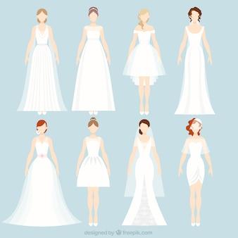 8種類のウェディングドレス