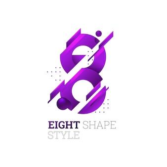 8 logo mozaic style