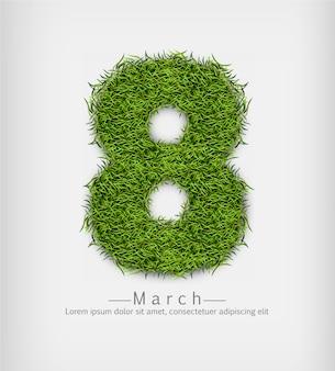 8 марта зеленая трава
