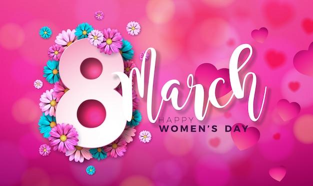 8 марта счастливый женский день цветочные открытки.