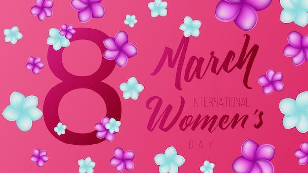 8 march international event background