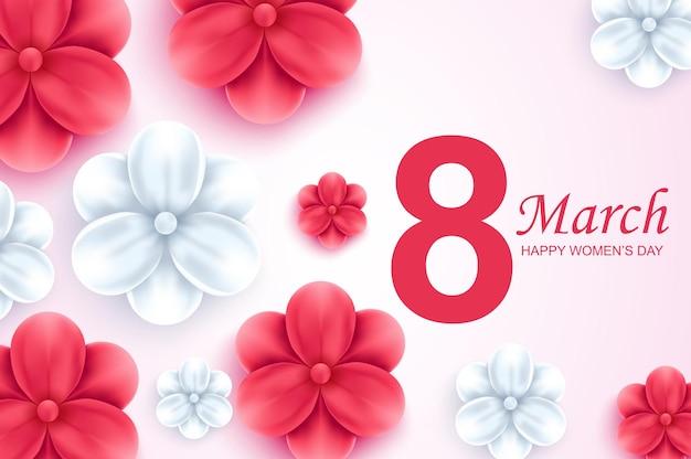 8 марта международный счастливый женский день приветствие дизайн