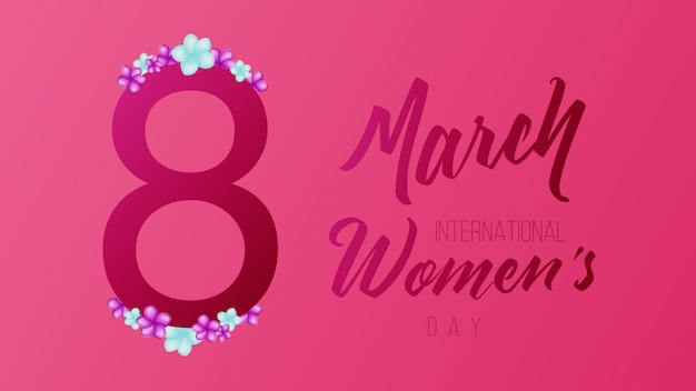 8 march international womans day background