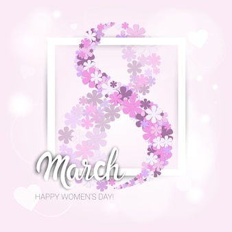 8 march international women day greeting card