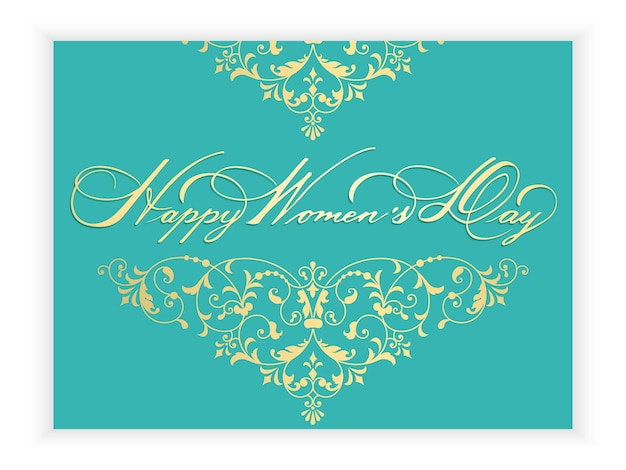 8 march international women's day greeting card