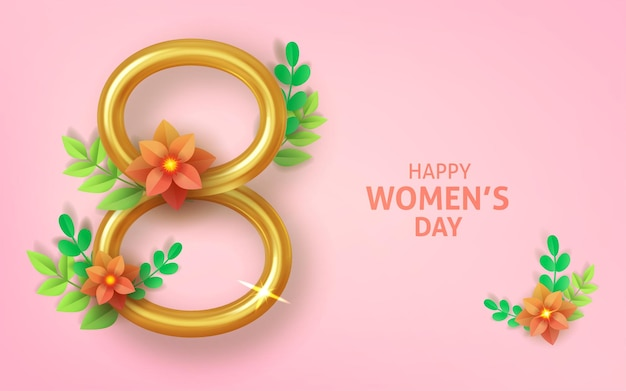 8 march, international women's day, greeting card