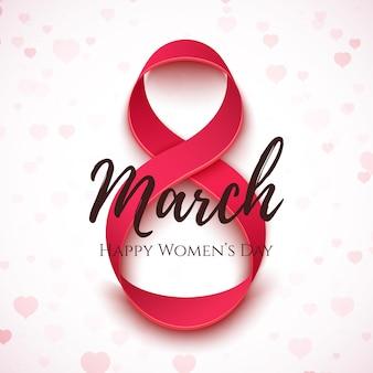 3 월 8 일. 국제 여성의 날 배경.