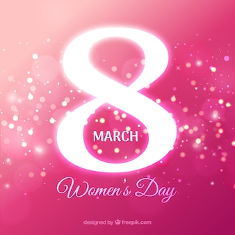 8 march pink flat background