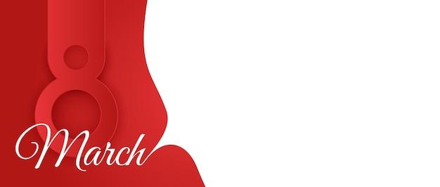 8 марта распродажа баннер с дизайном тюльпанов