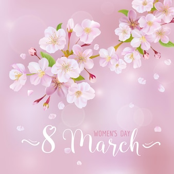 8 march - women's day greeting card template - in