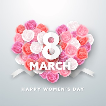 8 march women's day greeting card