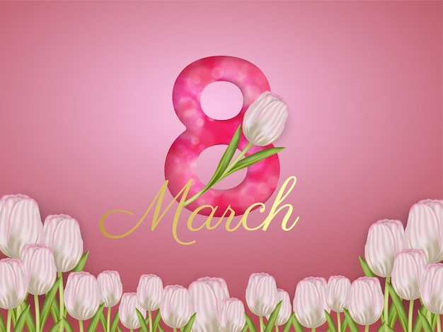 꽃과 함께 3 월 8 일 여성의 날 벽지
