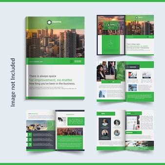 8-страничная деловая брошюра дизайн