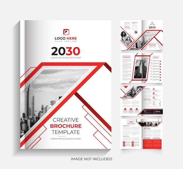 8 page modern corporate business brochure design