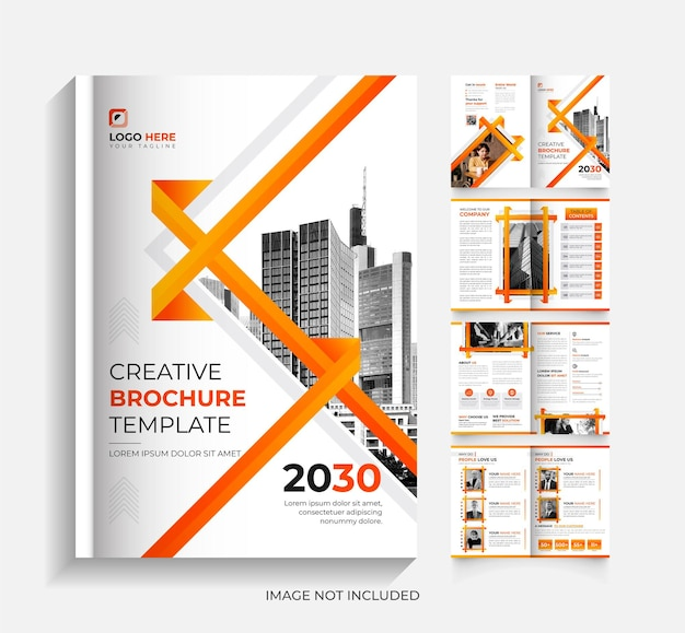 8 page modern corporate business brochure templat