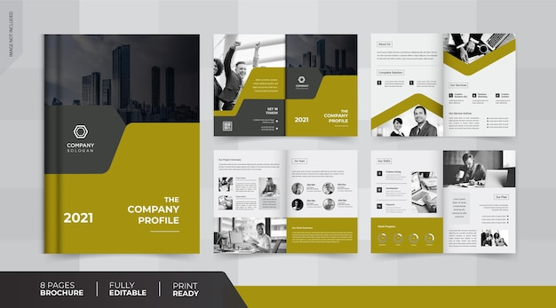 8ページのパンフレットデザイン