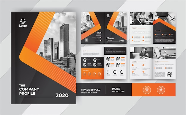 8 pages business brochure design