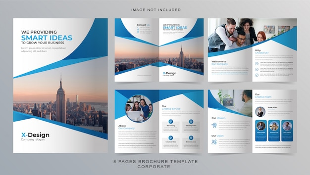 8 pages business brochure template
