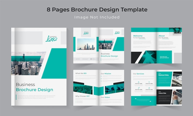 8 pages company profile brochure set