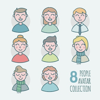 8 people avatar collection