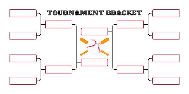 8개 팀 토너먼트 대진표 챔피언십 템플릿