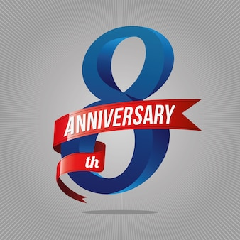 8 years anniversary celebration logotype