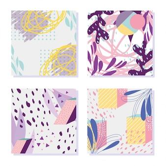 図幾何学的な装飾メンフィス80年代90年代スタイルの抽象的な背景
