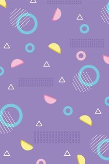 幾何学的な抽象的なメンフィス80年代90年代スタイルの抽象的な背景