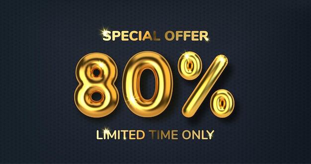 Скидка 80 на скидку на распродажу из реалистичных 3d золотых шаров номер в виде золотых шаров