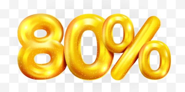 80% скидка на символ мега распродажи золотой шар