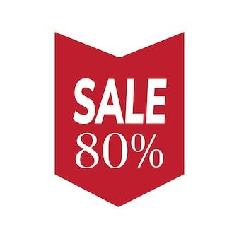 80 percent off sale badge vector