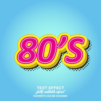 80's 3d style text effects