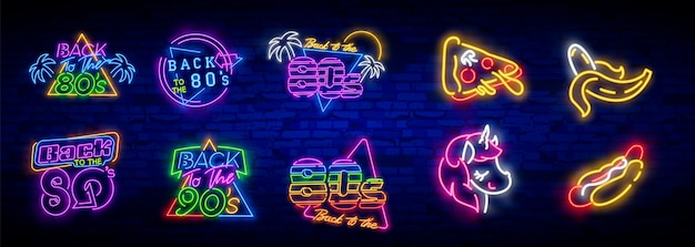 80's collection neon signs