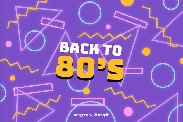 80's colorful background geometric style