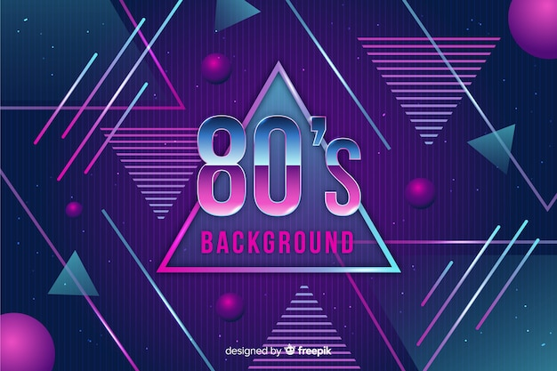80's geometric background flat design