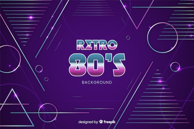 80's geometric background