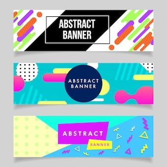 80's style abstract banners collection
