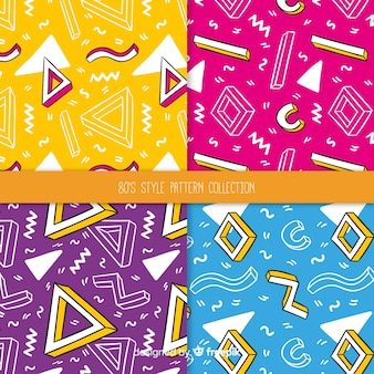 80's style pattern collection