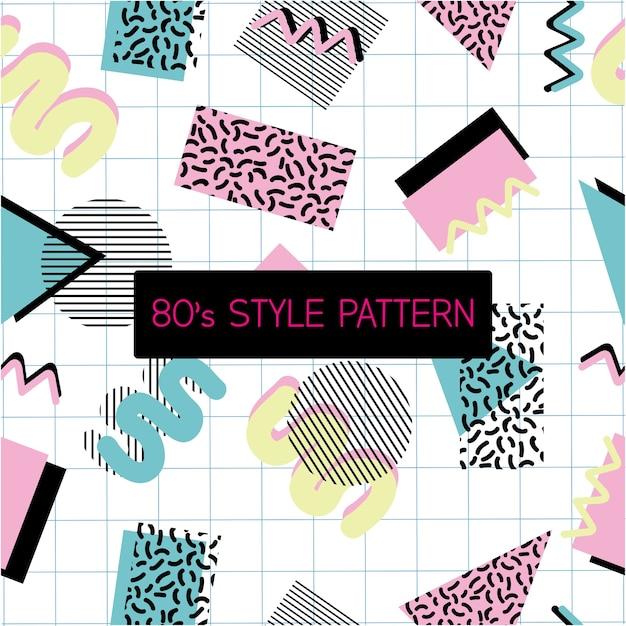 80'sスタイルのパターン