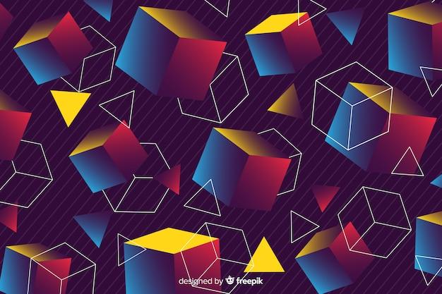 80 стиль фона с геометрическими фигурами