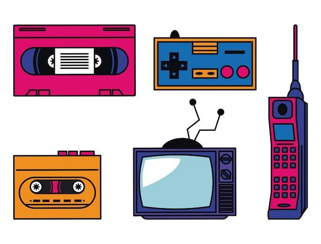 80年代のテクノロジーデバイス
