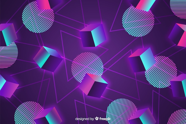 80-х годов геометрический фон плоский дизайн