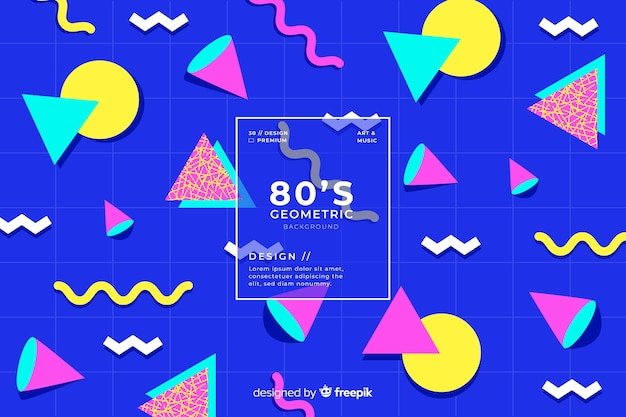 80-х годов геометрический дизайн фона в стиле ретро