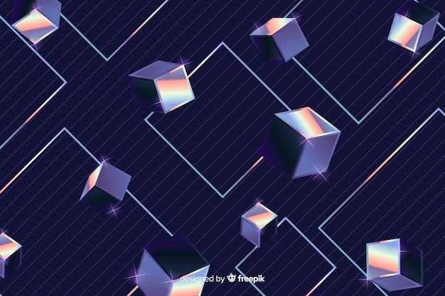 幾何学的図形の背景80年代スタイル