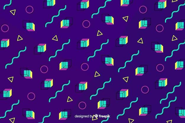 80年代の幾何学的な背景