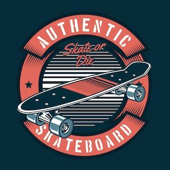 Иллюстрация скейтборда 80-х