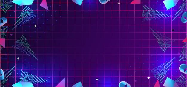 Нео мемфис абстрактный фон с украшением геометрических элементов 80-х годов