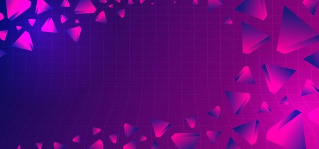 幾何学的なウルトラバイオレット色と80年代の抽象的な背景