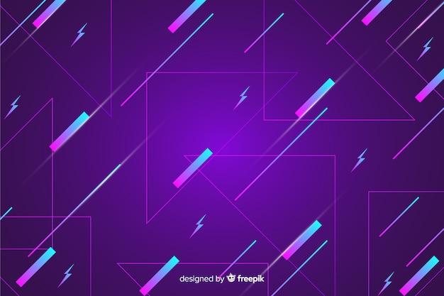 紫色の80年代の幾何学的な背景